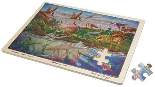 Dazzling Dino Funky Foil Wooden Puzzle - 1