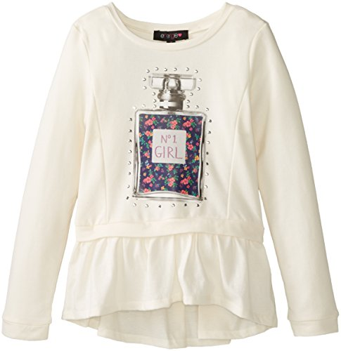 Energie Big Girls' French Terry Pullover with Hangdown