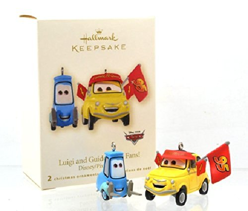 Hallmark Disney Pixar cars Luigi & Guido Race Fans! LIGHTNING McQUEEN