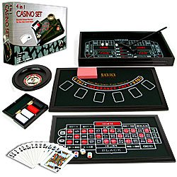 4 in 1 Casino Game Table Roulette, Craps, Poker, BlackJack. Product Category: Toys & Games > Games
