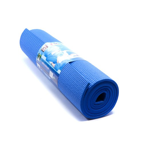 6Mm Thick Blue Yoga Pilates Excercise Fitness Workout Gym Non Slip Comfortable Mat By Kurtzy Tm front-922228