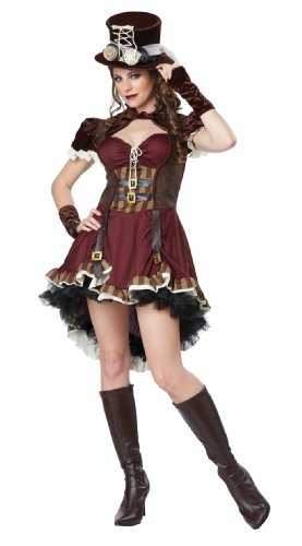 California Costumes Women's Steampunk Girl Adult, Burgundy/Brown, X-Large
