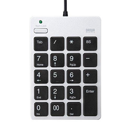 Sanwa USB 2.0 Hub mit Zehnertastatur silberne NT-18UH2SV