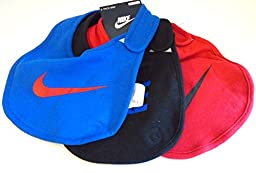 Nike Baby Boy Cotton Bibs, Set of 3 (Blue, Black, Red)