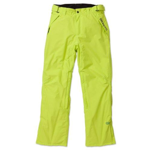 Brunotti Delouw - Herren Snowboardhose neon gelb/grün Skihose aus NATULON: Recycled Resources (XL)