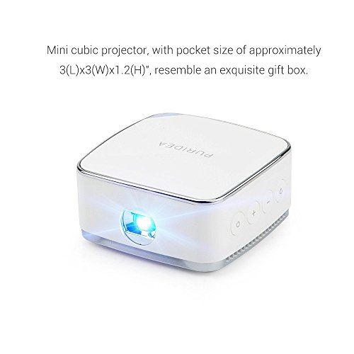 Lightwish lightwish white dlp projector mini mobile cubic for Best projector for apple products