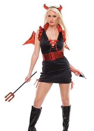 Amazon.com: Lady Lucifer Sexy Costume (M/L): Adult Sized Costumes