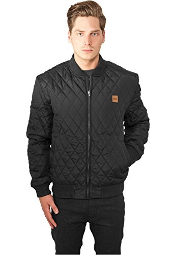 Urban Classics TB862 Diamond Quilt Nylon Jacket Giacca Regular Fit Uomo Taglia XL Black