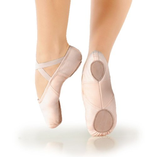 Unknown So Danca Little Girls .M Pink Canvas Split Sole Ballet Slipper