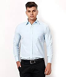 Frankline Men's Formal Shirt (Frankline-14_ Blue _38)