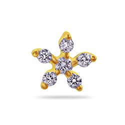 Joyalukkas Pride Diamond Collection 18k Yellow Gold and Diamond Nose Pin