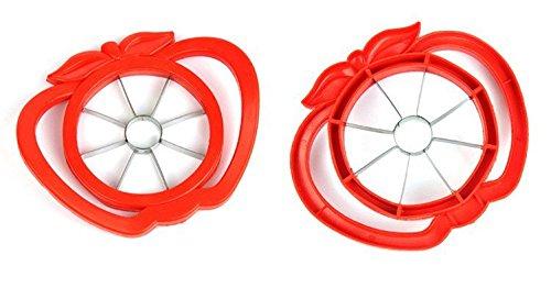 homeelabador Découpeur d'Apple Cutter Trancheuse Convient Carotteuse Fruits Lames en acier inoxydable pratique de cuisine outil rouge