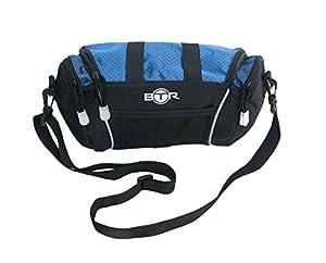 BTR Dark Blue And Black Wash Bag / Toiletry Bag With Side Pockets And Removable Shoulder Strap
