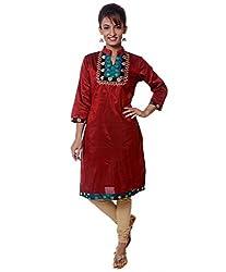 Ashmita Kurti Red-XL