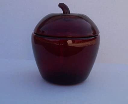 Anchor Hocking Glass Jars Anchor Hocking Red Glass Apple
