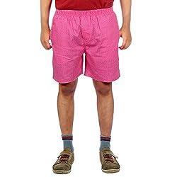 Aaduki Men's Cotton Shorts_Pink_XL