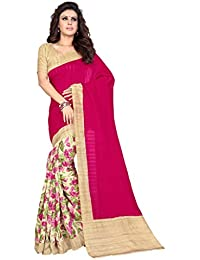 Sourbh Women's Sarees Art Silk Floral Print Half (with Color Option) With Blouse