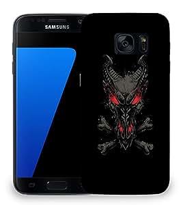 Snoogg Black Dragon Designer Protective Back Case Cover For SAMSAMSUNG S7
