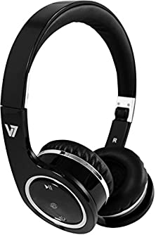 buy V7 On-Ear Stereo Bluetooth Wireless Headphones With Built-In Mic, Push To Talk, Playback & Volume Controls, Usb Rechargeable, Nfc Pairing On Apple, Samsung, Google, Microsoft Smart Phones, Tablets (Hs6000-Bt-Blk-9Nc) - Black