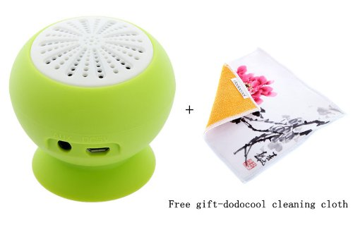 Mini Stereo Bluetooth Speaker Subwoofer Bass Sound Box For Iphone Ipod Ipad Handsfree Mic Car Suction Cup (Green)