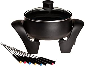 West Bend 88533 3-Quart Electric Fondue Pot, Black