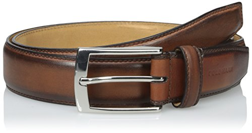 Cole Haan Men's 32Mm Stitched Pressed Edge Belt with Tab, Woodbury/Woodbury, 40 (Cole Haan Belt Brown compare prices)