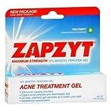 Zapzyt Maximum Strength 10% Benzoyl Peroxide Acne Treatment Gel, 1 Ounce