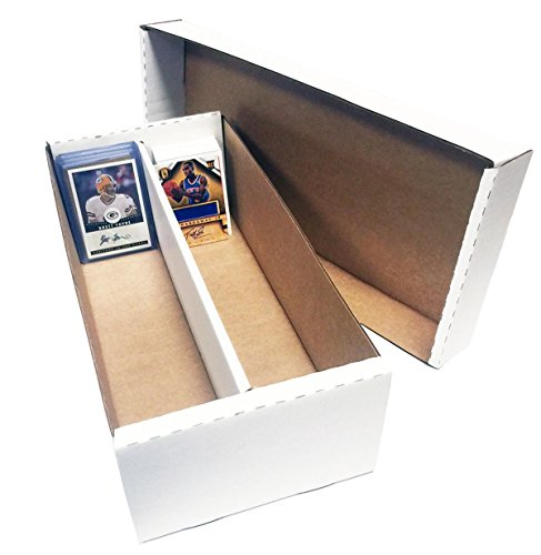 1-Shoe-2-Row-Storage-Box-1600-Ct-Corrugated-Cardboard-Storage-Box-Baseball-Football-Basketball-Hockey-Nascar-Sportscards-Gaming-Trading-Cards-Collecting-Supplies-by-MAX-PRO