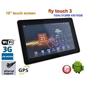 Alf Pad, 10.2 inch Resistive Android 2.3 Tablet PC, WiFi, RJ045, external 3G, GPS, 1080 P video out, Camera, 1.0 GHz CPU/512MB/4GB