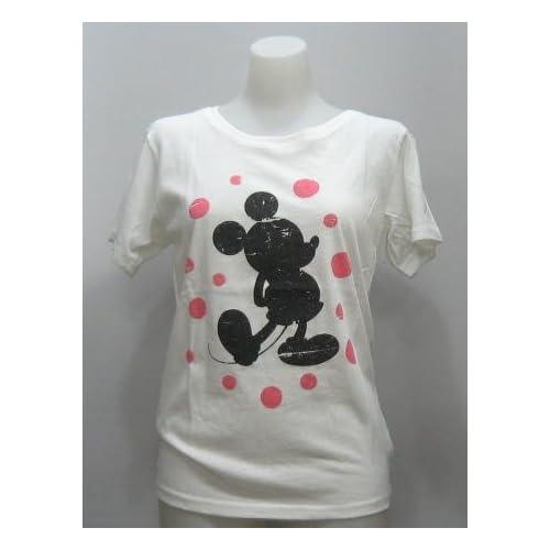 (ディズニー)Disney Tシャツ ミッキーマウス シャボン玉 レディース 313 フリーサイズ オフ