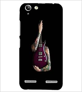 PrintDhaba Guitar D-5531 Back Case Cover for LENOVO A6020a46 (Multi-Coloured)