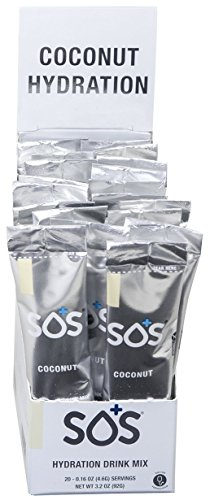 SOS Rehydrate Hydration Drink, Coconut, 3.2 Ounce (Coconut Hydration Mix compare prices)