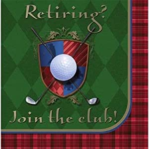 Golf Retirement Party Lunch Napkins - 16/Pkg.