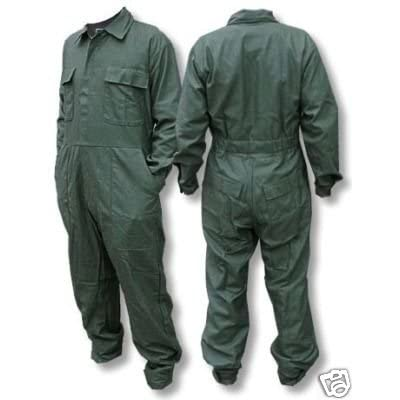 Od green coveralls mens large work or mechanic or paintball coveralls