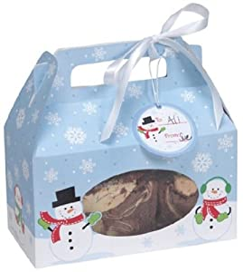 Creative Converting Cookie Box with Carry Handle, Snowman, 4 Boxes Per Package