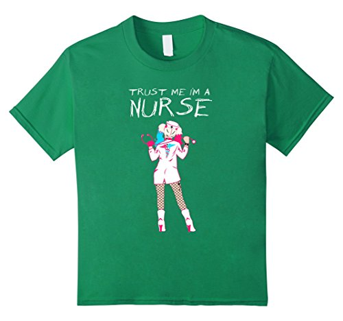 [Kids Trust Me I'm A Nurse Funny Xmas Gift Tshirt 4 Kelly Green] (Midwife Costume For Kids)