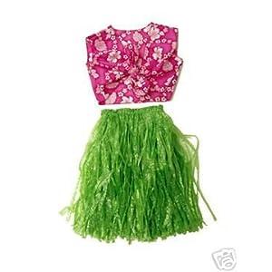 Click to buy Hawaiian aloha luau party costume dress up skirt halter from Amazon!