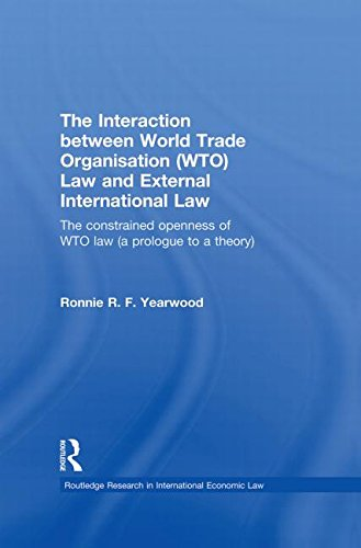 The Interaction between World Trade Organisation (WTO) Law and External International Law: The Constrained Openness of WTO Law (A Prologue to a Theory)