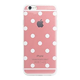 Superstart Pink Cute Polka Dot Soft TPU Rubber Case for iPhone 5/5s Ultra Thin Clear Scrath Resistant Case