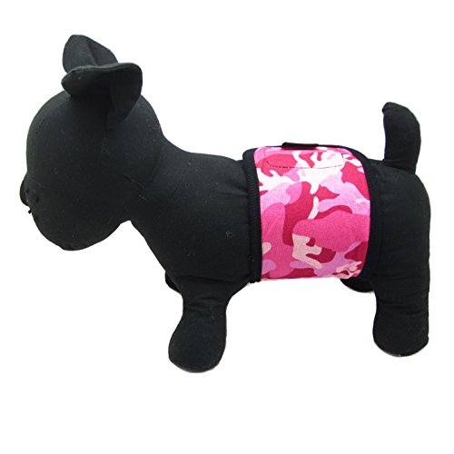 Alfie Pet By Petoga Couture - Tad Belly Band For Smaller Breeds - Color: Hot Pink Camouflage, Size: M (For Boy Dogs) front-1067544