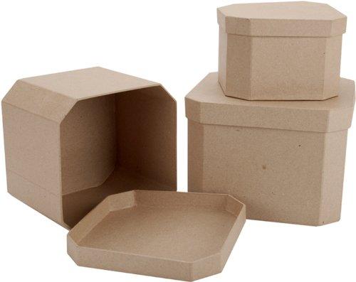 Paper Mache 3-Box Set: French Corner Square