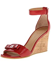 Marc by Marc Jacobs Women's Red Ankle Strap Wedge Sandal