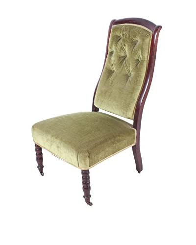 Rouen Parlor Chair, Brown/Olive