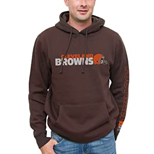 NFL Cleveland Browns Horizontal Text Pullover Hoodie - Brown from Junk Food