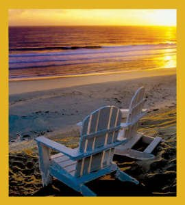 Adirondack Chairs on Beach Bookmark
