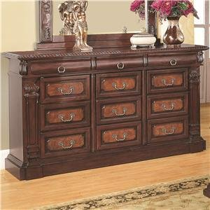 Coaster Home Furnishings 202203 Traditional Dresser, Cherry