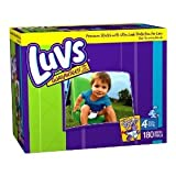 416A%2BnIOe6L. SL160  Luvs Premium Stretch Diapers   Size 4 (180 count)