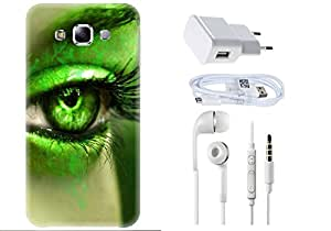 Spygen SAMSUNG GALAXY E7 Case Combo of Premium Quality Designer Printed 3D Lightweight Slim Matte Finish Hard Case Back Cover + Charger Adapter + High Speed Data Cable + Premium Quality Handfree