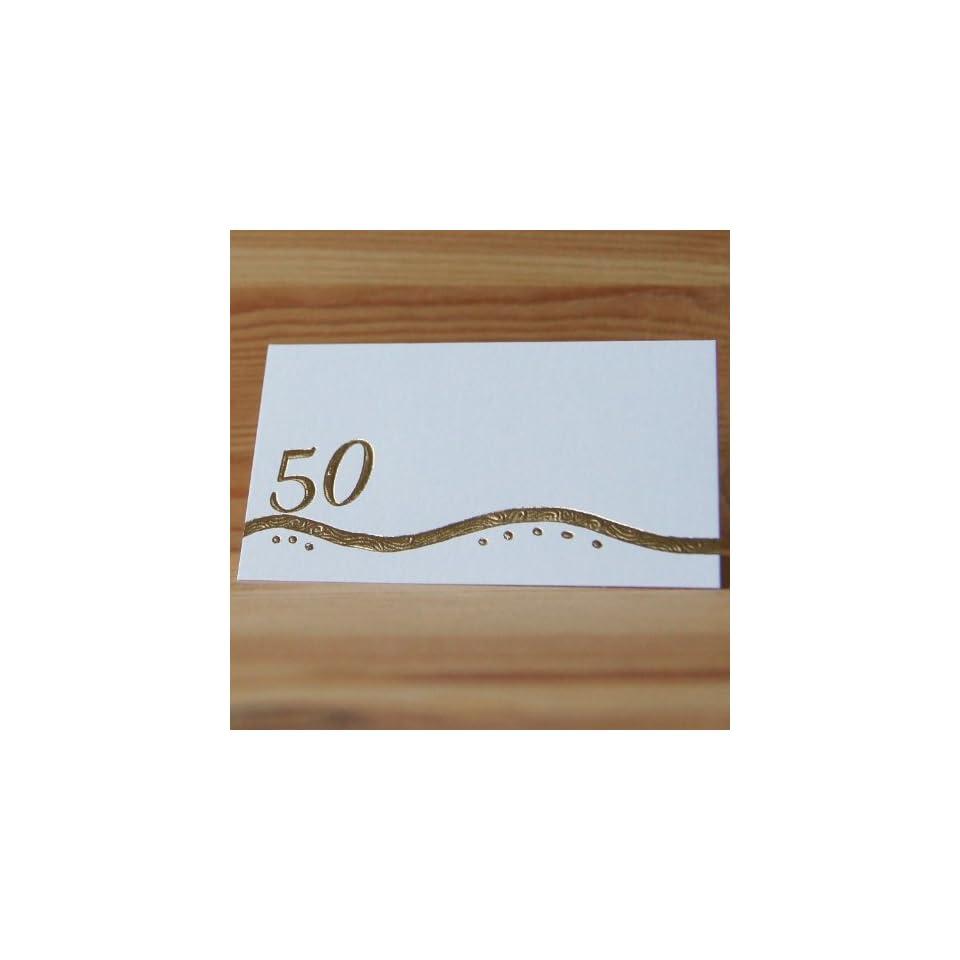 30 Tischkarten Goldene Hochzeit 50 Geburtstag Goldene 50