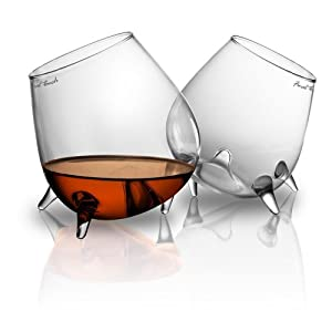 Final Touch Relax Cognac Glass Set of 2 by Final Touch